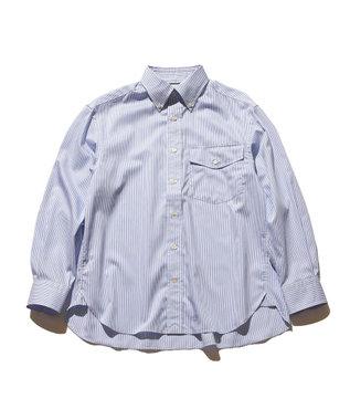 J.PRESS YORK STREET 【UNISEX】タイプライターストライプ ボタンダウンシャツ サックスブルー系1