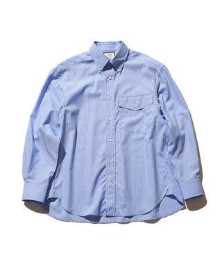 J.PRESS YORK STREET 【UNISEX】タイプライターストライプ ボタンダウンシャツ ブルー系1