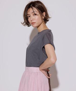 23区 【先行予約】コットンジャージー フレンチスリーブ Tシャツ