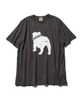 J.PRESS MEN 【WEB限定カラー&サイズ有】【UNISEX】バックブルドック Tシャツ グレー系