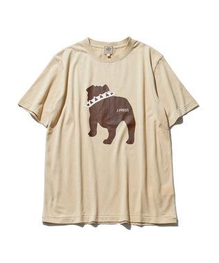 J.PRESS MEN 【WEB限定カラー&サイズ有】【UNISEX】バックブルドック Tシャツ ベージュ系