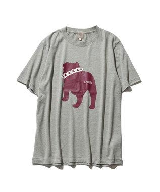 J.PRESS MEN 【WEB限定カラー&サイズ有】【UNISEX】バックブルドック Tシャツ ライトグレー系