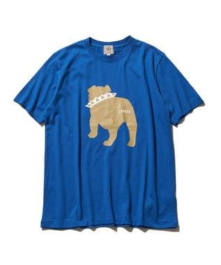 J.PRESS MEN 【WEB限定カラー&サイズ有】【UNISEX】バックブルドック Tシャツ ブルー系