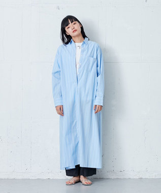 ONWARD Design Diversity 【IIQUAL】ロングシャツドレス ブルー系1