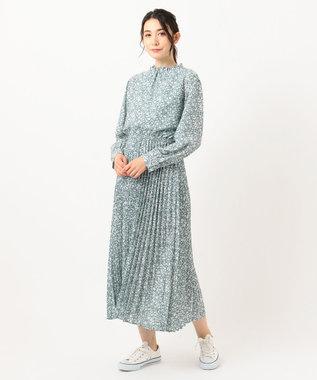 any FAM 【洗える】ヴィンテージフラワープリント ワンピース ライトグリーン系5