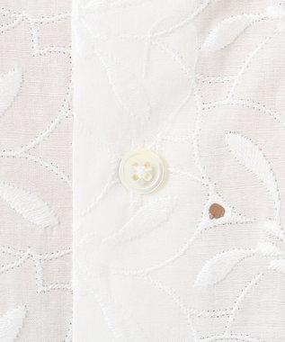 J.PRESS LADIES 【洗える】コットン エンブロイダリーフラワー ブラウス ホワイト系5