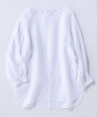 23区 S 【マガジン掲載】LIBECO バックボタン ブラウス(番号2K23) ホワイト系