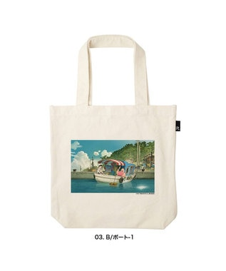 ROOTOTE 6365【受注生産 / 期間限定商品】OE.TALL.肉子ちゃん-A 映画『漁港の肉子ちゃん』 × ROOTOTE コラボトートバッグ 03:B/ボート-1