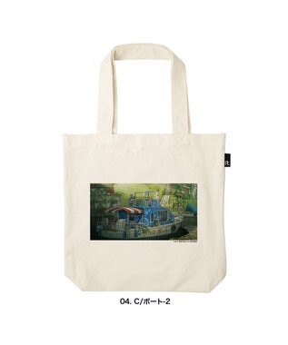 ROOTOTE 6365【受注生産 / 期間限定商品】OE.TALL.肉子ちゃん-A 映画『漁港の肉子ちゃん』 × ROOTOTE コラボトートバッグ 04:C/ボート-2