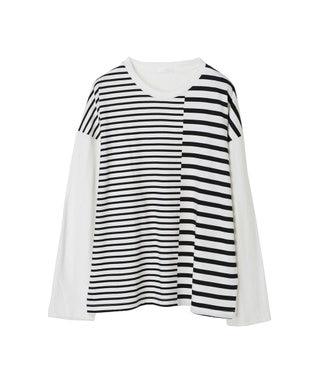koe クレイジーボーダー長袖Tシャツ Off White