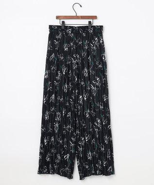 自由区 L 【UNFILO】ワッシャー プリント プリーツ パンツ ネイビー系5