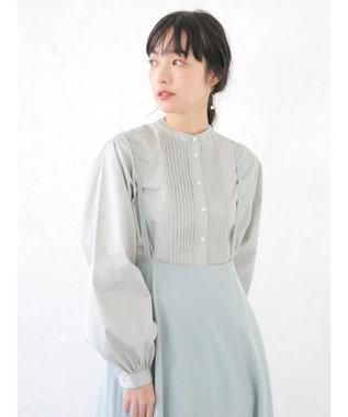 earth music&ecology SET2点 ジャンスカ+ピンタックシャツ Mint