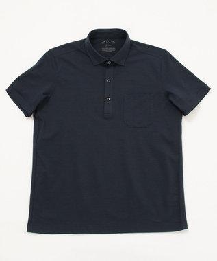 JOSEPH ABBOUD 【キングサイズ】JCミニサッカー ポロシャツ ネイビー系