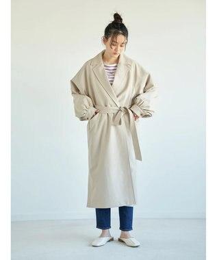 AMERICAN HOLIC 花粉防止袖ギャザーデザイントレンチコート Light Beige