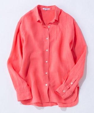 23区 L 【マガジン掲載】LIBECO スタンダード シャツ(番号2K24) [一部店舗限定]ピンク系