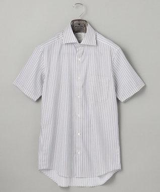 【盛夏用】SUMMER PREMIUMPLEATS_ドビーストライプ_半袖ドレスシャツ