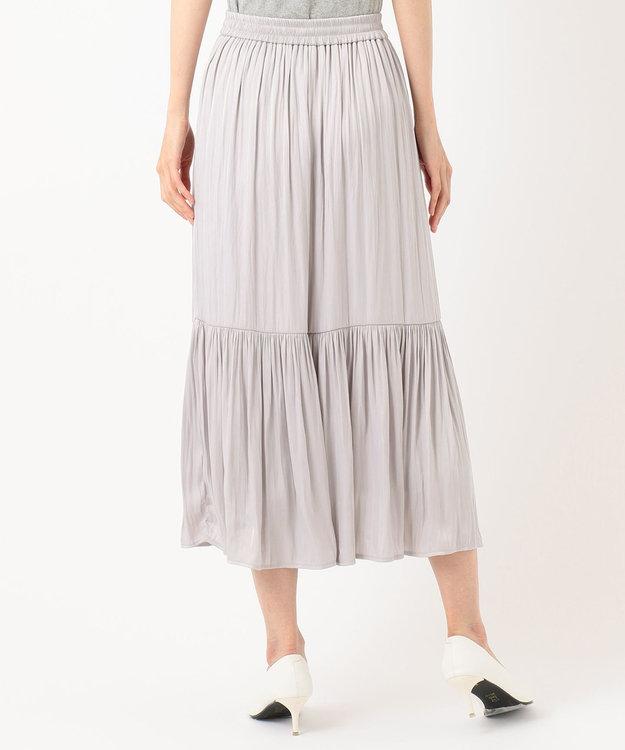 Feroux 【ウエストゴム】クリンクルティアード スカート