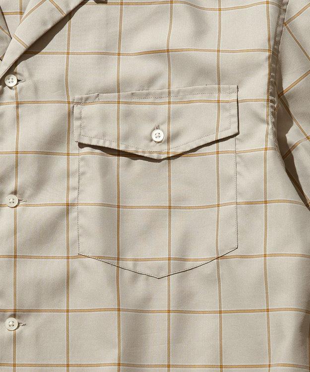 J.PRESS YORK STREET 【UNISEX】ツイルチェック オープンカラーシャツ