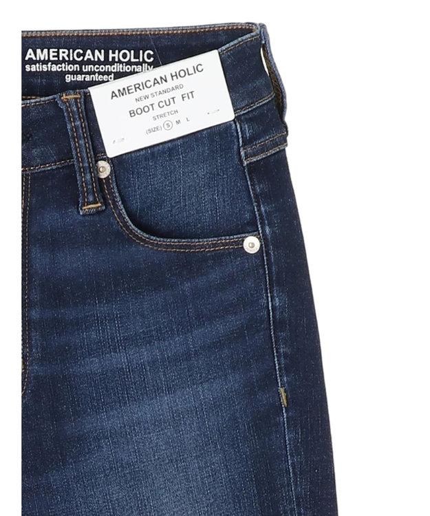 AMERICAN HOLIC ブーツカット裾カットオフデニム