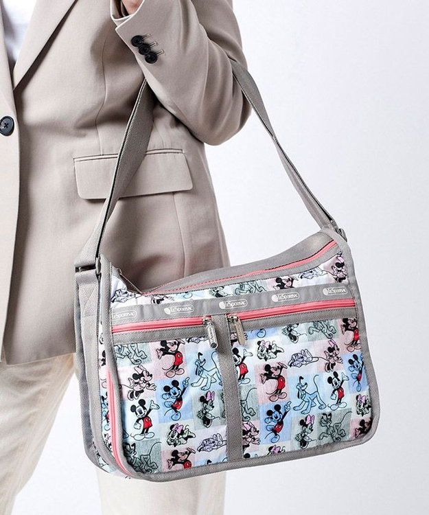 LeSportsac DELUXE EVERYDAY BAG/ミッキー パッチワーク