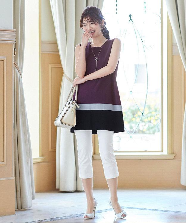 Tiaclasse 【日本製・洗える】レギンス感覚で穿けるストレッチパンツ