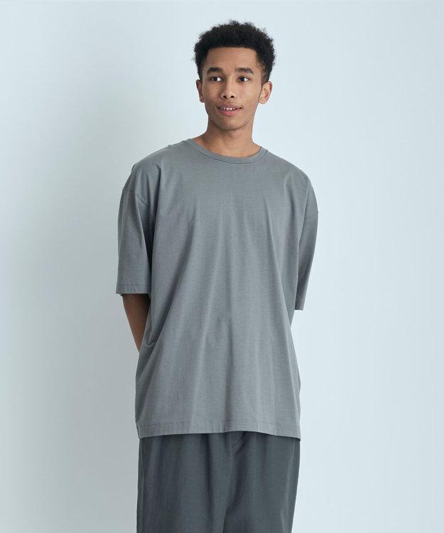 ATON NUBACK COTTON | オーバーサイズTシャツ - UNISEX