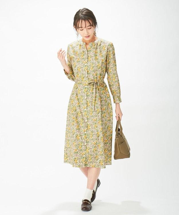 J.PRESS LADIES 【洗える】リバティプリント ワンピース