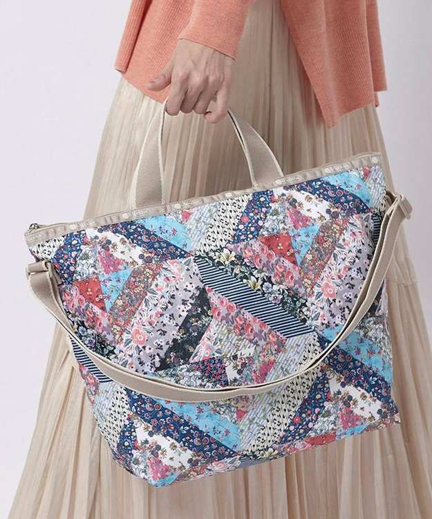 LeSportsac DELUXE EASY CARRY TOTE/メモリー フローラル キルト