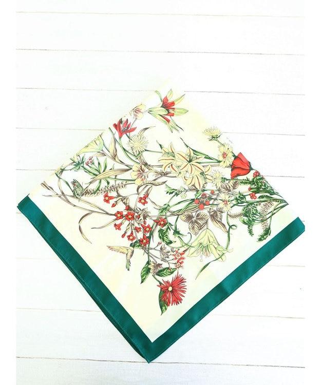 Green Parks フラワー柄スカーフ