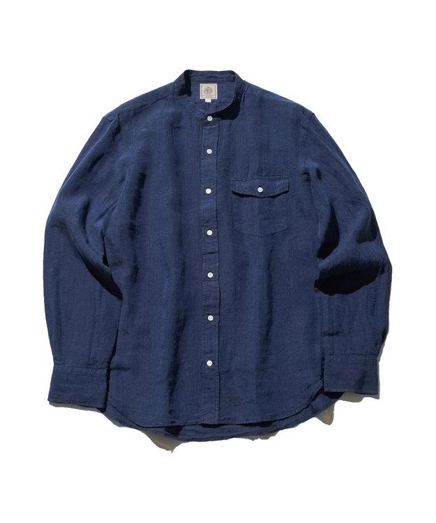 J.PRESS MEN ノルマンディーリネンバンドカラー シャツ