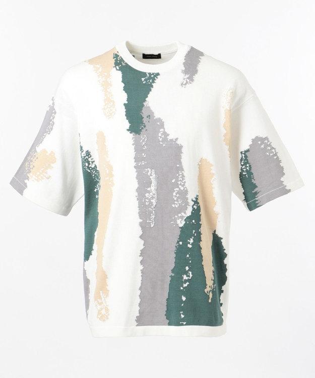 JOSEPH HOMME クールツイストインターシャ ニットTシャツ