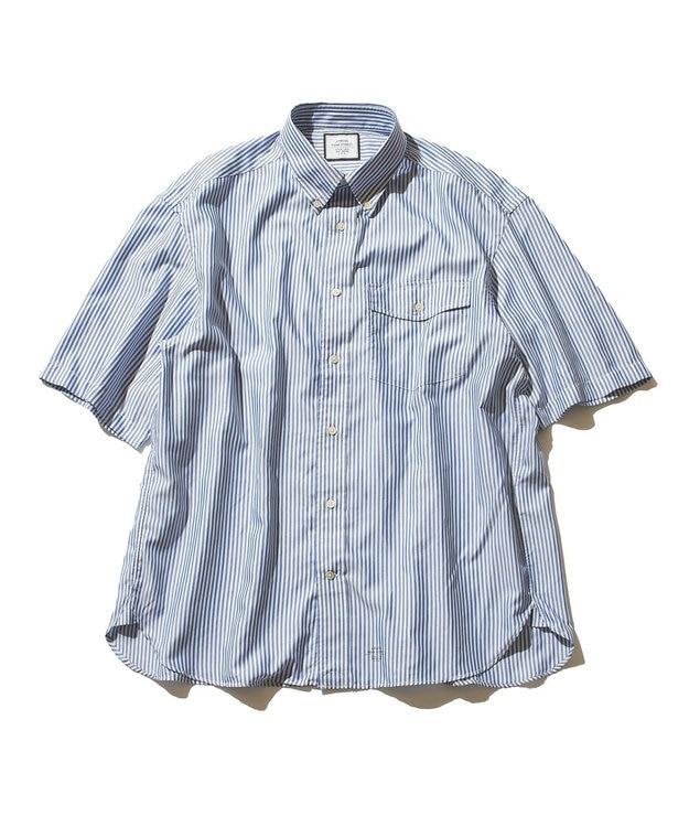 J.PRESS YORK STREET 【UNISEX】ハイカウントストライプ ツイルシャツ