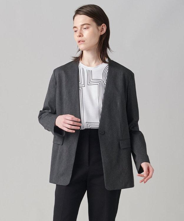 JOSEPH 【柚香 光さん着用】メランジバイストレッチ ノーカラージャケット