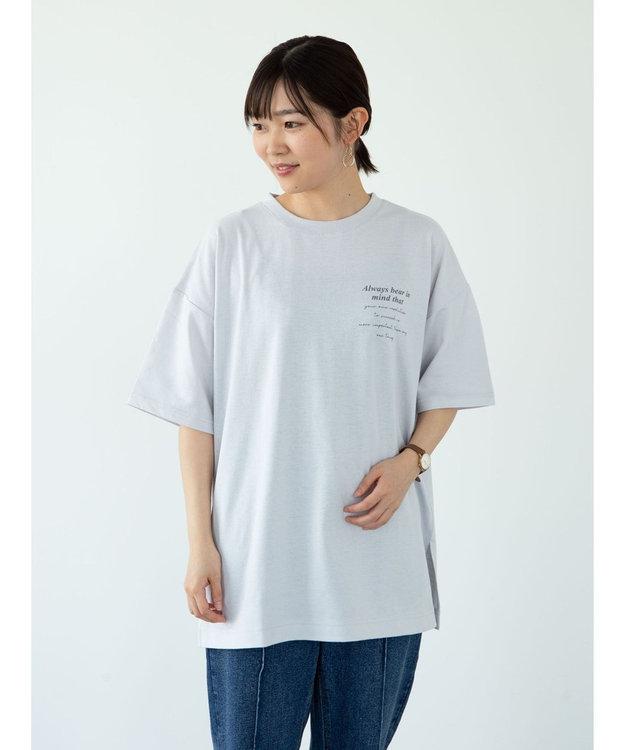 Green Parks ・RAY CASSIN バックカラー転写チュニック