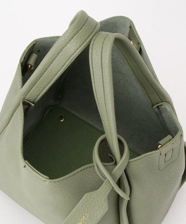 UNBILLION cachecache ミニショルダー付きソフトレザー調ミニトートバッグ