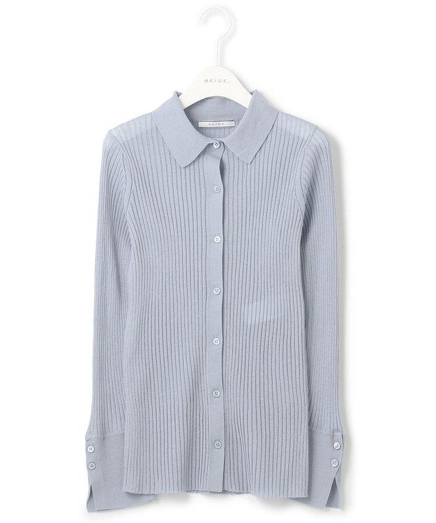 BEIGE, 【S-size】【VERY NAVY 4月号掲載】VICHY / ニットシャツ