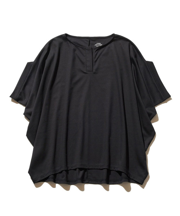 J.PRESS YORK STREET 【WOMEN】ハイゲージスムース キーネック Tシャツ