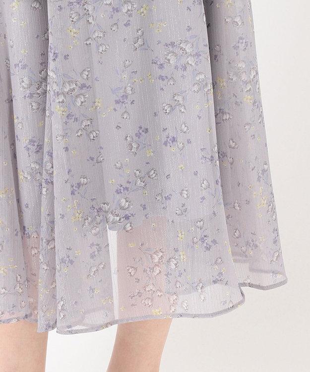 Feroux 【洗える】シャイニーチューリッププリント スカート