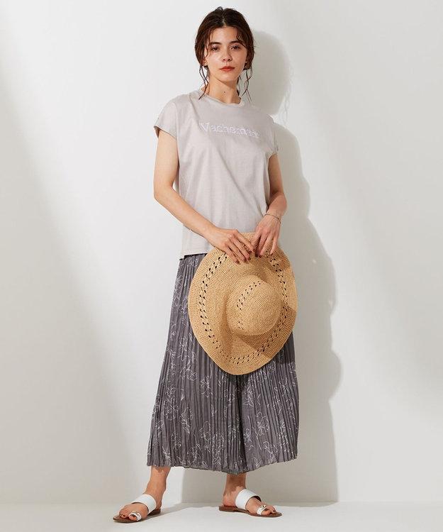 自由区 L 【UNFILO】ワッシャー プリント プリーツ パンツ