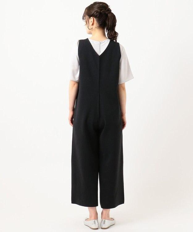 組曲 S 【洗える】リネンブレンド オールインワン