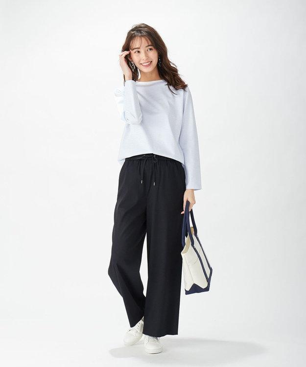J.PRESS LADIES 【洗える】レヤードTEE ボーダーカットソー