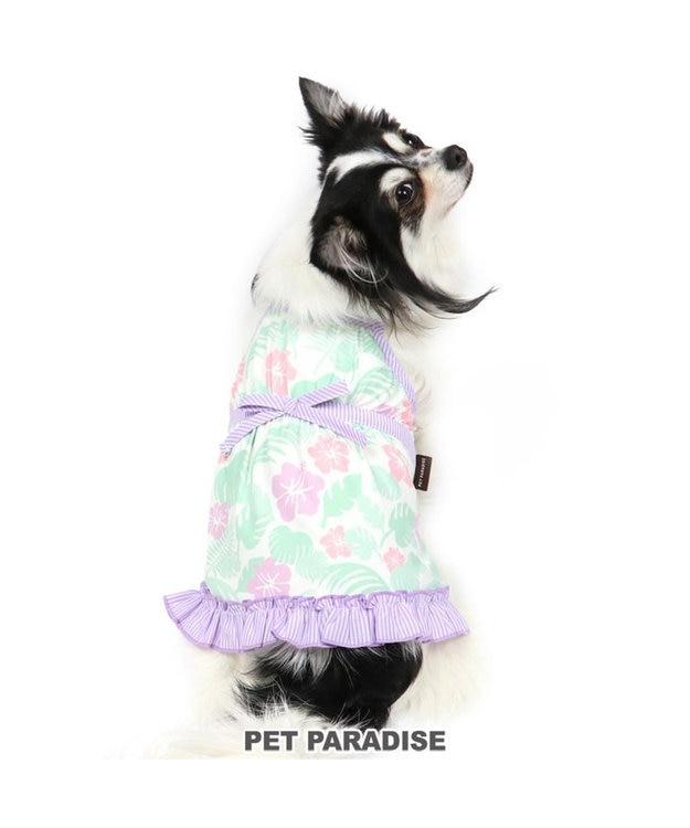 PET PARADISE 犬服 犬 服 ペットパラダイス クール 接触冷感 虫よけ ボタニカル キャミソール 紫 〔小型犬〕 超小型犬 小型犬 ひんやり 夏 涼感 冷却 吸水速乾 クールマックス