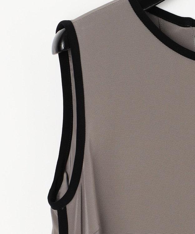 GRACE CONTINENTAL バイカラートリミングドレス