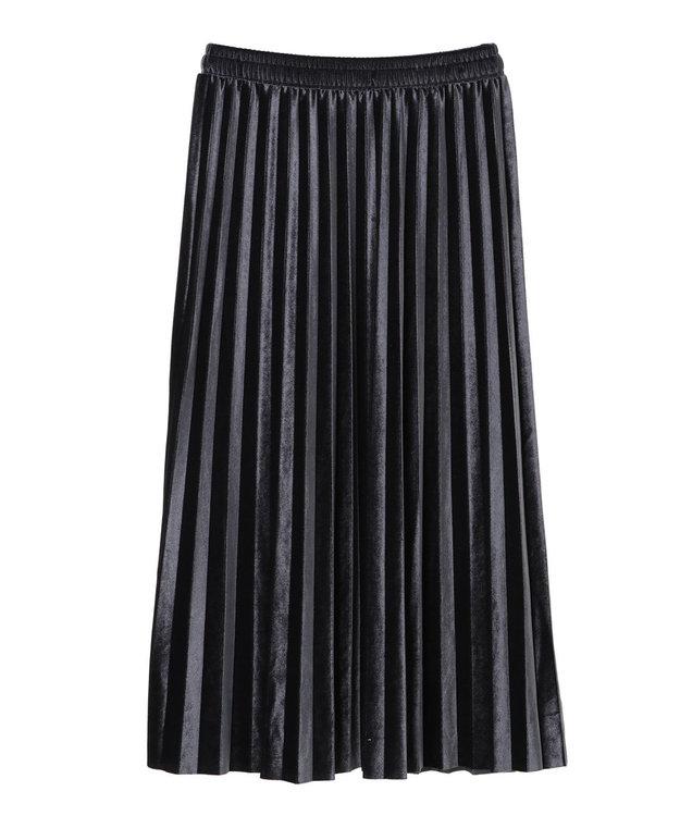 YECCA VECCA ・ベロアプリーツスカート