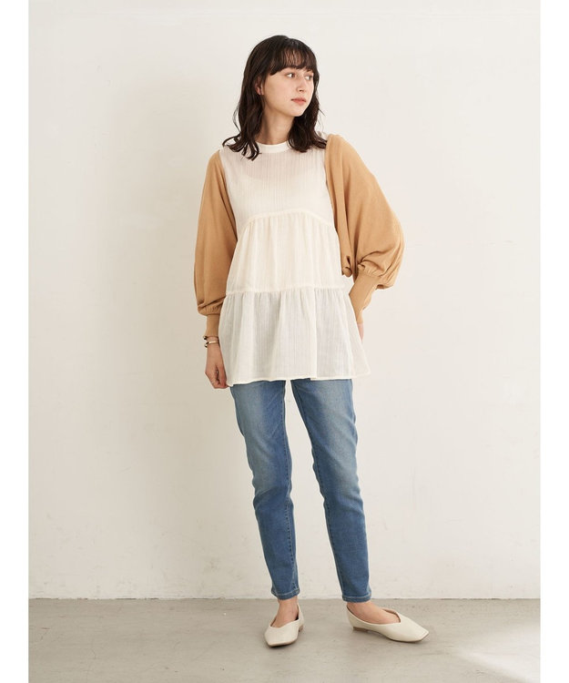 earth music&ecology バックリボンボレロカーディガン