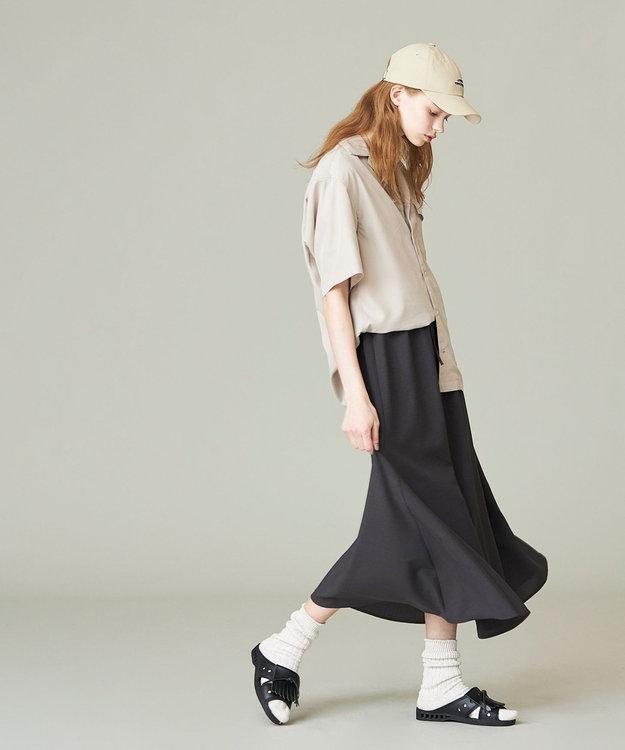 J.PRESS YORK STREET 【UNISEX】パウダーシフォン オープンカラーシャツ