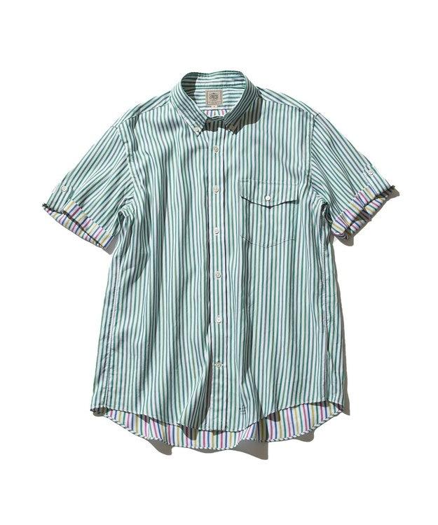 J.PRESS MEN ダブルチューブ マルチストライプ シャツ