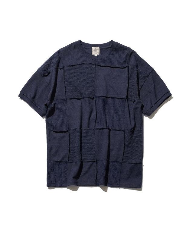 J.PRESS MEN 【大人気】フォギーダイ パッチワークTシャツ