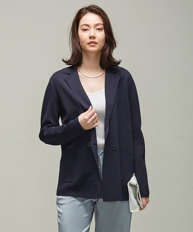 ICB L 【洗える】 ComfortMilano ニットジャケット