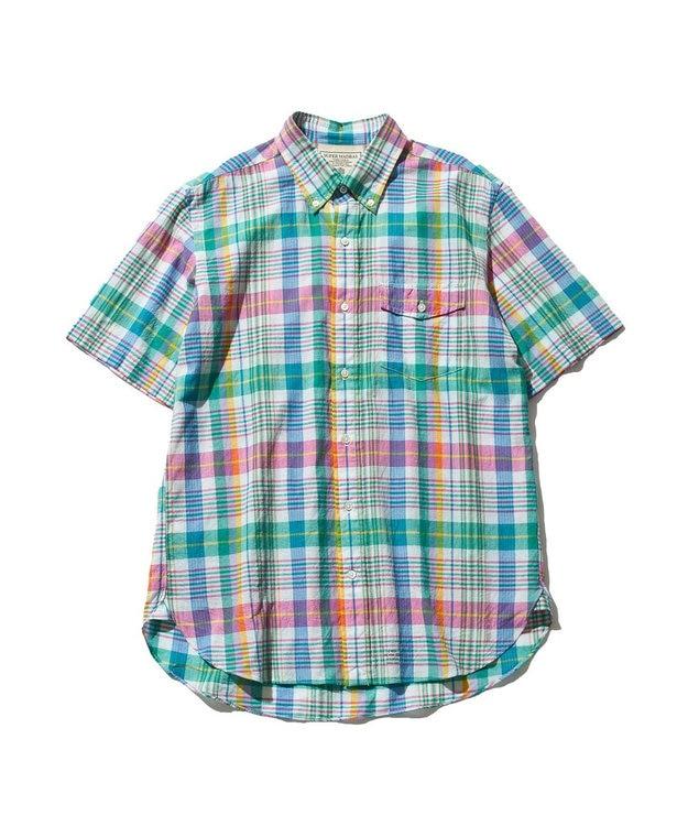 J.PRESS MEN インドマドラスチェック ボタンダウンシャツ